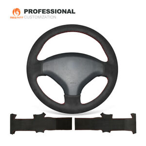 Mewant Durable Black Suede Steering Wheel Cover For Old Peugeot 408 Peugeot 308
