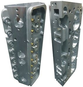 Precision Race Cnc Ported Aluminum Cylinder Heads Small Block Chevy Flow 300cfm