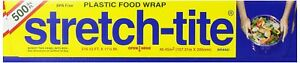 Stretch tite Plastic Food Wrap 500 Sq Ft 516 12 ft X 11 5 8 inch Rolls