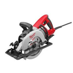 Milwaukee 7 1 4 Spindle Lock Depth Adjustment Corded Worm Drive Circular Saw