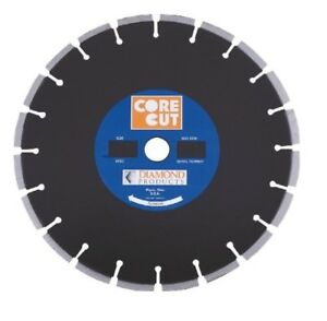 Diamond 11922 Core Cut 14 inch By 0 110 By 1 inch Premium Black Dry Or Wet