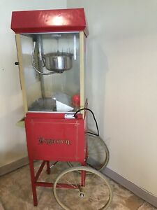 Gold Medal Fun Pop Popcorn Machine Cart Model 2408