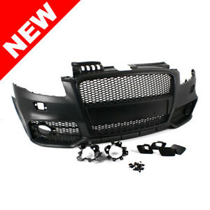 Audi A4 B7 05 06 07 08 Rs4 Style Front Bumper Conversion W Full Grille Set