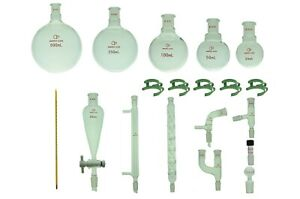 Proglass Glass Primay Organic Chemistry Kit 14 20 Lab Glassware Set
