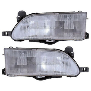 Pair New Left Right Headlight Assembly For Toyota Corolla 1993 1997