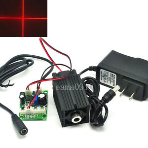 Focusable 650nm 100mw Red Cross Laser Module Long Working With 12v Ac Adapter