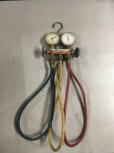 Yellow Jacket Test And Charging Manifold Gauges R 12 R 22 R 502 Ritchie Hvac