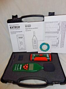 New Extech Digital Sound Level Meter Kit With Calibrator 407722 407732 Bttries