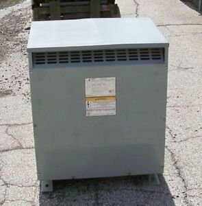 75 Kva 240 To 208y120 Transformer Jefferson Electric 423 7232 000