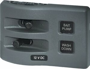 Blue Sea 4303 Weatherdeck 12v Dc Waterproof Switch Panel 2 Position
