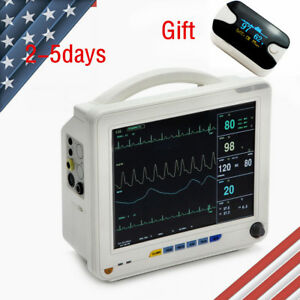 12 Tft 6 Parameter Medical Patient Monitor Vital Sign Cardiac System Oximeter