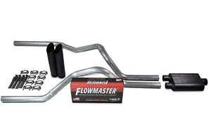 Chevy Gmc 1500 Truck 07 14 2 5 Dual Exhaust Kits Flowmaster Super 44 Black Tip
