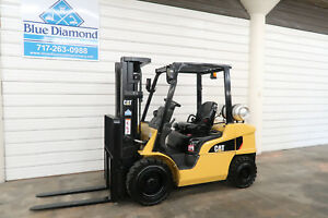 2013 Cat 2p6000 6 000 Lp Gas Forklift Pneumatic Tire Three Stage 4 Way S s