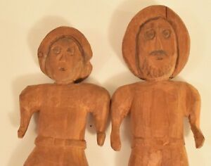Vintage Hand Carved Man And Woman Original Art Form T 14