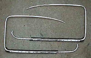Vw Type 3 1961 1973 Door Outer Window Scrapers W Alloy Trim Molding
