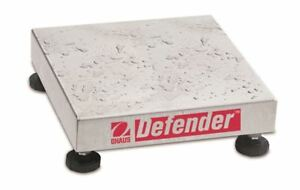 Ohaus NTEP Defender Stainless Steel Washdown Bench Scale Base 250kg x 20g
