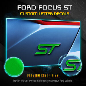 2013 2019 Ford Focus St Overlay Decal Emblems Front Back Brushed Aluminum