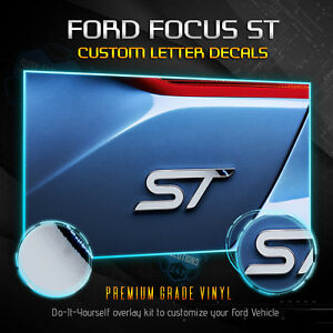 For 2013 2019 Ford Focus St Overlay Decal Emblems Front Back Chrome Mirror