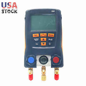 Refrigeration Digital Manifold Meter Kit For Testo 550 0563 1550 With 2pcs Clamp