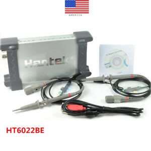 Hantek 6022be Pc based Usb Portable Fft Oscilloscope 2 Channels 20mhz 48msa s Us