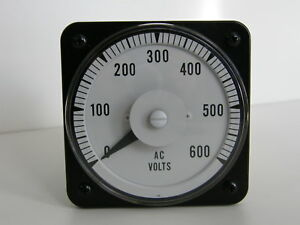 Yokogawa Panel Meter 0 600v Ac Electrical Voltage Round Analog 103021sjsj