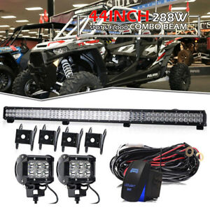 For Can am Commander 44 288w Led Light Bar Spot Flood Combo Driving 2x 4 Pods