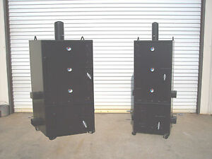 New Custom Vertical Patio Bbq Pit Smoker And Charcoal Grill Model 3x3