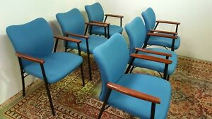 Assembly Church Special Occasions Blue Fabric Chairs