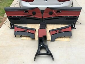 Bmw E93 Convertible Seats Seat Door Panel Front Rear Console Set Red 328i 335i