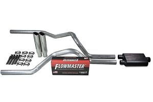 Dodge Ram 1500 09 18 2 5 Dual Exhaust Kits Flowmaster Super 44 Clamp On Tip