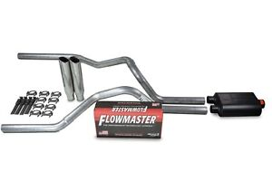 Dodge Ram 1500 09 18 2 5 Dual Exhaust Kits Flowmaster Super 40 Clamp On Tip