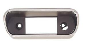 1967 1968 Ford Mustang Dash Radio Bezel Black Chrome W O Console 67 17803 New