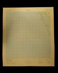 Bird Keys Florida Sarasota Key Casey 1944 Original Usgs Topographical Chart