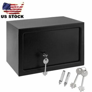 8 5l Strong Steel Key Security Money Cash Hidden Wall floor Safe Box W Key Lock
