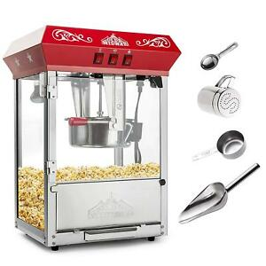 Tabletop Popcorn Maker Machine Popper With 8 ounce Kettle Convenient 3 Switch