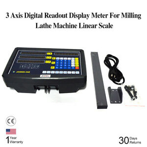 Linear Scales 3 Axis Digital Readout Display Kit For Milling Lathe Machine Kpa