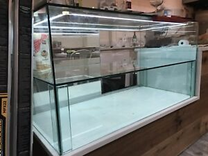 Bakery Or Jewelry Glass Display Case Large Thick Mirrored Doors And Led Light