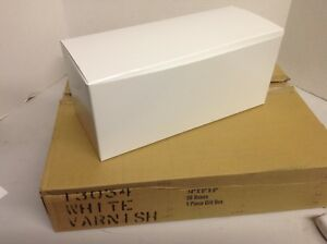 Lot Of 50 Gift Boxes 14 x6 x6 White Varnish Fee Shipping