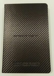 Porsche Design Pad Notebook Book Diary Carbon Fiber Look 70th Years 911 70