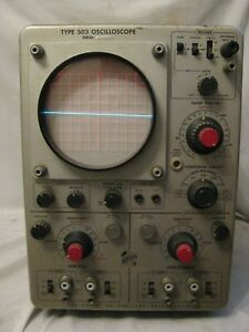 Not Tested As is Vintage Tektronix Type 503 Oscilloscope 117v Electrical Unit