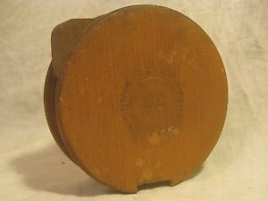 Antique Wood Stamped Patented July 21 1885 Spool Roller Part