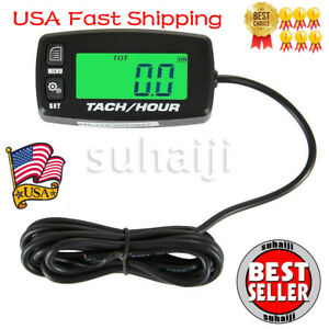 Searon Backlit Digital Tach Hour Meter Tachometer Waterproof 2 4 Stroke Engines