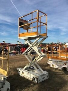 2008 Hy brid 1030 Scissor Lift 10 Deck Hgt 16 Work Hgt Fully Operational Hd