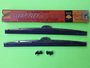 1935 1942 Anco 9 Nors Wiper Blades Ford Plymouth Dodge Gm Cadillac Chevrolet
