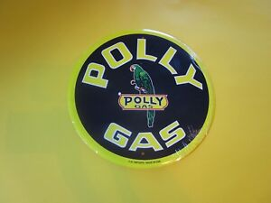 Tin Metal Gasoline Service Station Man Cave Advertising Decor Gas Oil Polly