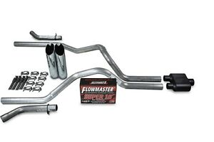 Chevy Gmc 1500 07 14 2 5 Dual Exhaust Kit Flowmaster Super 10 Slash Tip Corner
