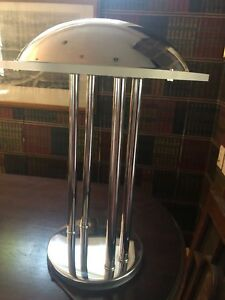 Rare Mid Century Modern Sputnik Atomic Lucite Chrome Desk Light Table Lamp 1960s