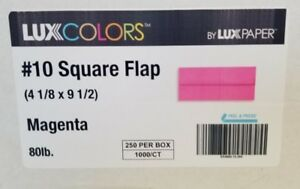 New 250 Lux Colors By Lux Paper 10 Square Flap Magenta Envelopes Peel