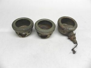 1910 1920s Three Used Cowl Parking Lights W Lenses Nickel Plated Brass Antique
