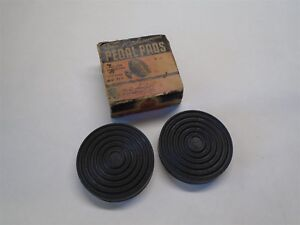 1934 1941 Two Nos Vintage Rubber Pedal Pads No 57 Mercury Lincoln zephyr Ford V8